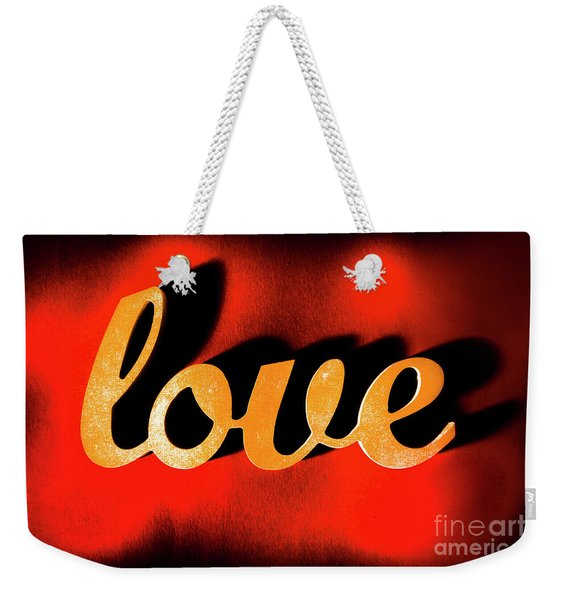 Words Of Love And Retro Romance Weekender Tote Bag