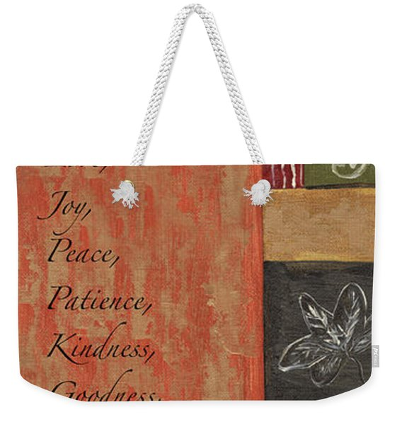 Words To Live By, Fruit Of The Spirit Weekender Tote Bag