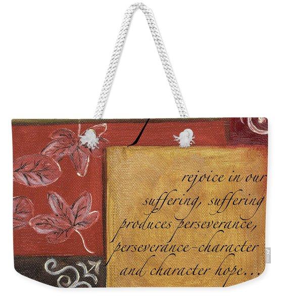 Words To Live By Hope Weekender Tote Bag