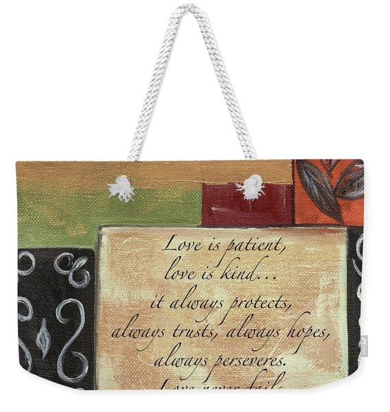 Words To Live By Love Weekender Tote Bag