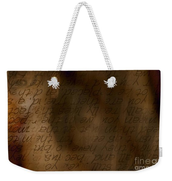 Words Winding Weekender Tote Bag