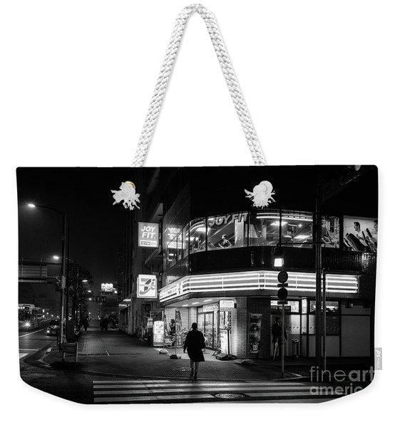Workout The Night, Tokyo Japan Weekender Tote Bag
