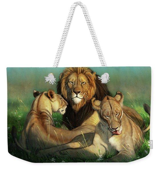 World Lion Day Weekender Tote Bag