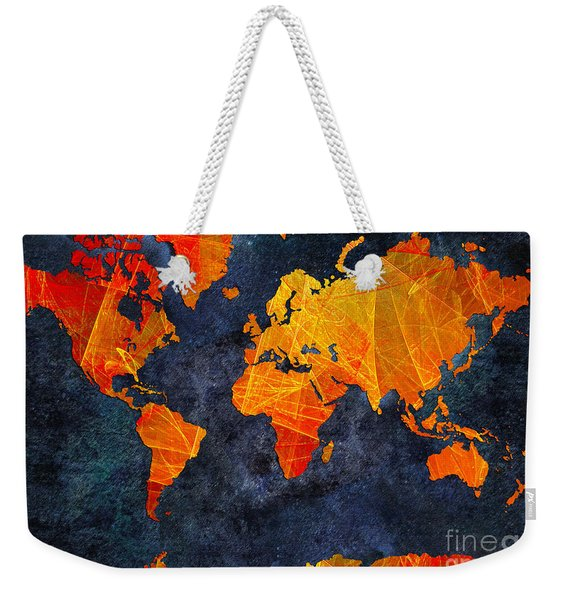 World Map - Elegance Of The Sun - Fractal - Abstract - Digital Art 2 Weekender Tote Bag