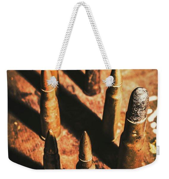 World War II Ammunition Weekender Tote Bag