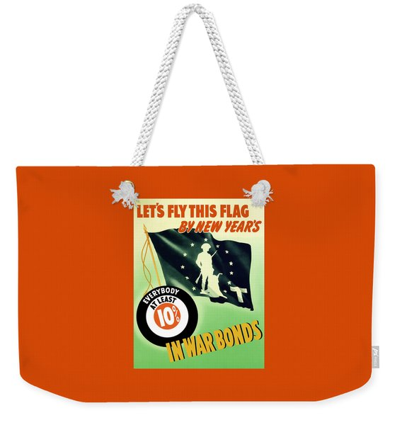 World War Two Minuteman Flag  Weekender Tote Bag