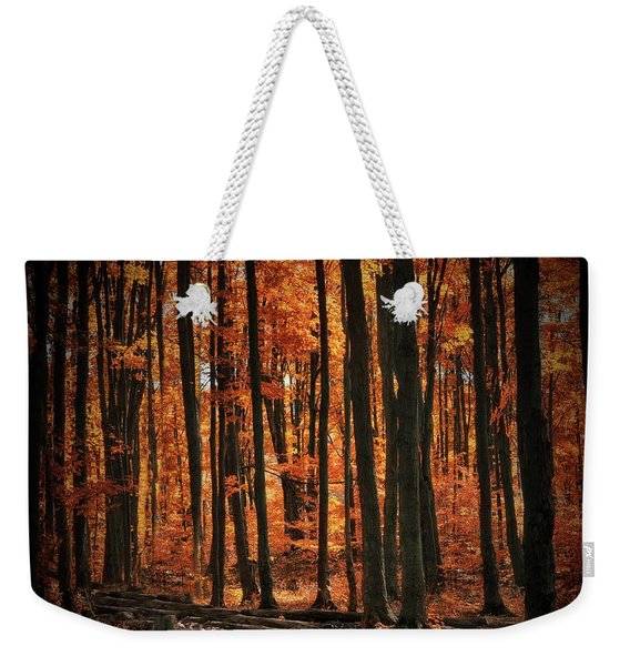 World With Octobers Weekender Tote Bag