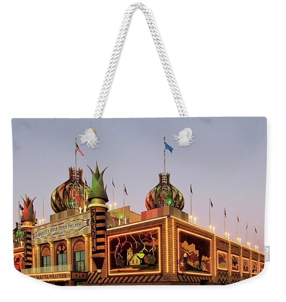Weekender Tote Bag featuring the photograph World's Only Corn Palace 2017-18 by Rich Stedman