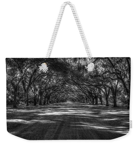 Wormsloe Plantation 2 Live Oak Avenue Art Weekender Tote Bag