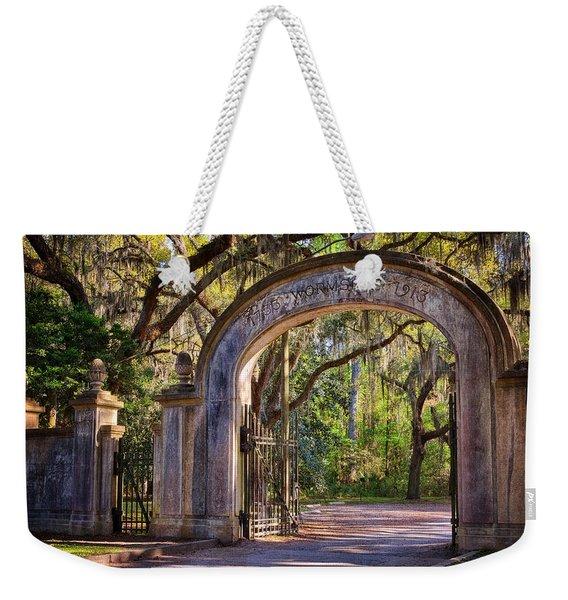 Wormsloe Plantation Gate Weekender Tote Bag
