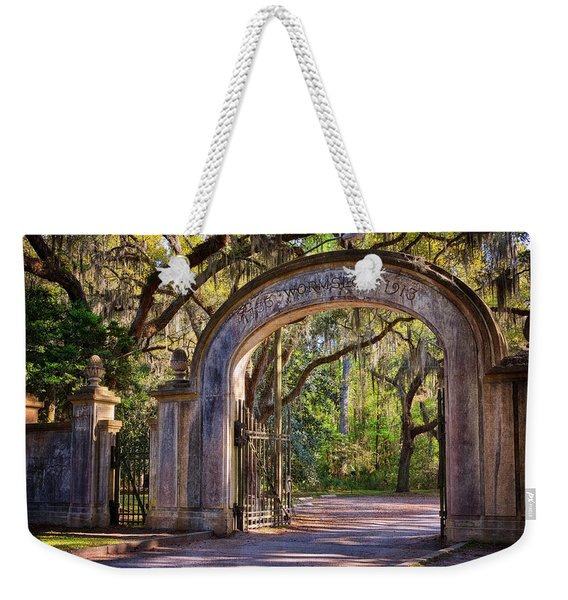 Wormsloe Plantation Gate Weekender Tote Bag