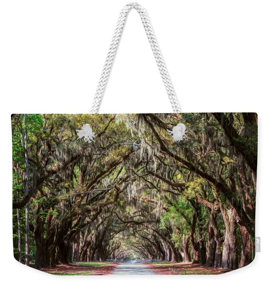 Wormsloe Plantation Oaks Weekender Tote Bag