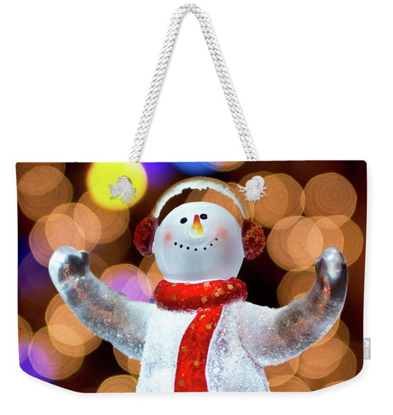 Worshiping Snowman Weekender Tote Bag