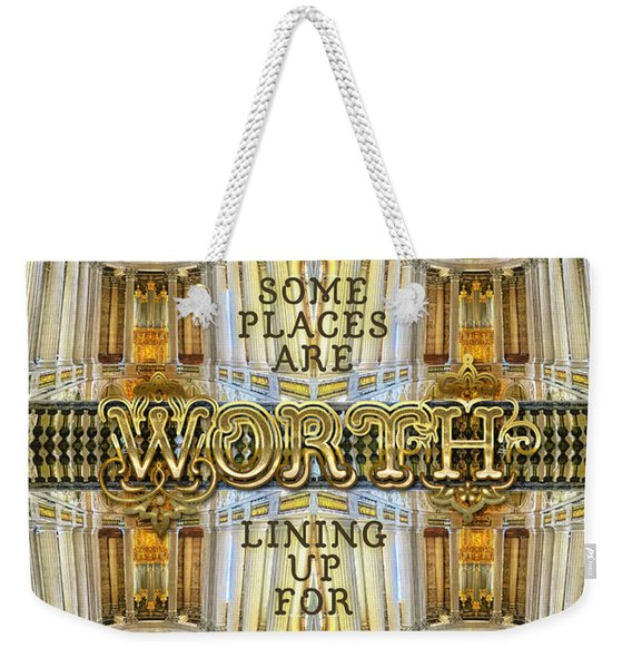 Worth Lining Up For Versailles Palace Chapel Paris Weekender Tote Bag