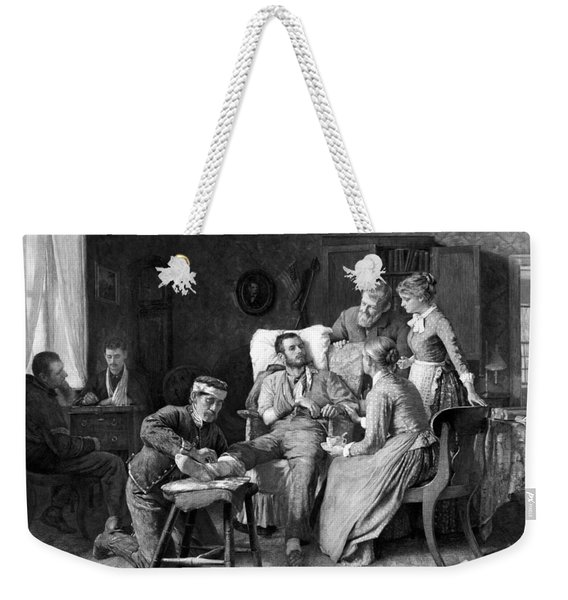Wounded Soldier At The Battle Of Gettysburg Weekender Tote Bag