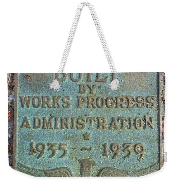 Wpa Emblem Weekender Tote Bag