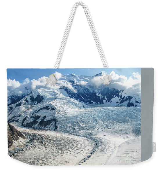Weekender Tote Bag featuring the photograph Wrangell Alaska Glacier by Benny Marty