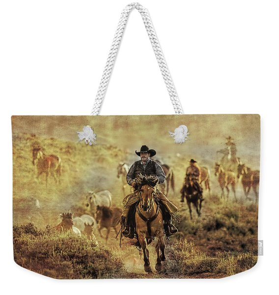 A Dusty Wyoming Wrangle Weekender Tote Bag