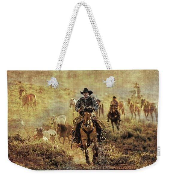 A Dusty Wyoming Wrangle Weekender Tote Bag