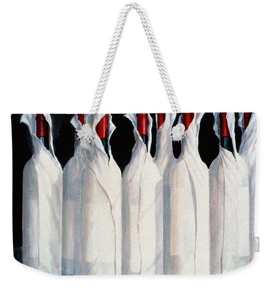 Wrapped Wine Bottles  Number One Weekender Tote Bag