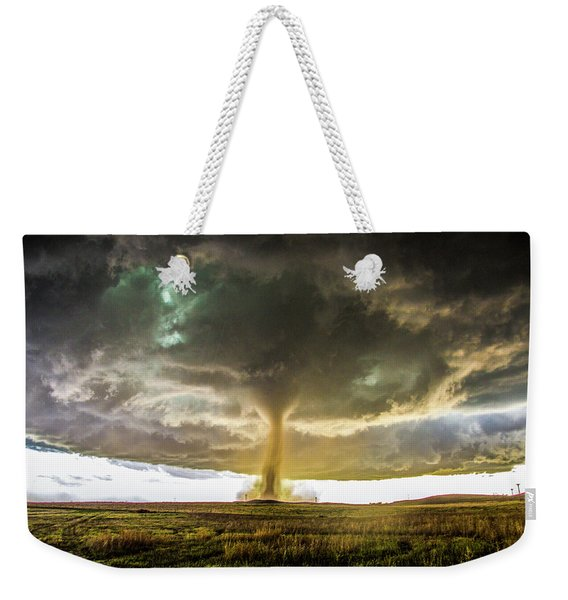 Weekender Tote Bag featuring the photograph Wray Colorado Tornado 070 by NebraskaSC