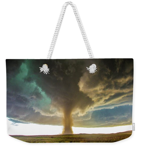 Weekender Tote Bag featuring the photograph Wray Colorado Tornado 079 by NebraskaSC