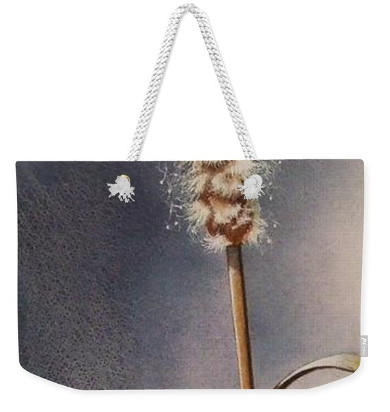 Wren And Cattails Weekender Tote Bag