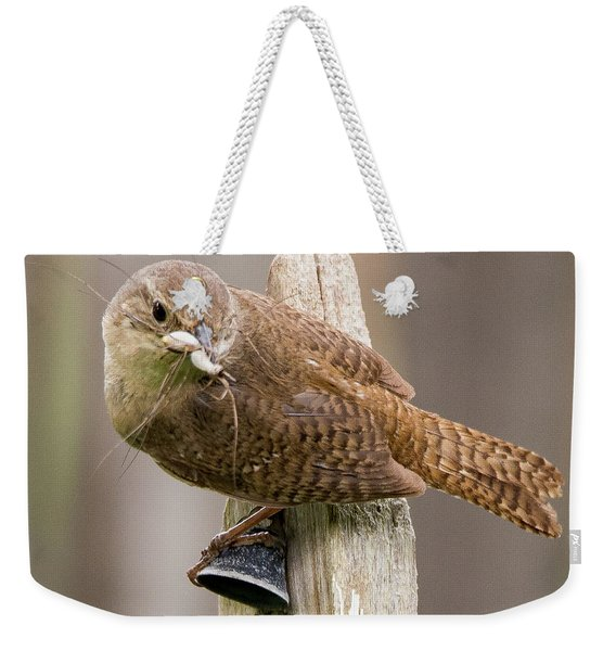 Wren Ringing The Dinner Bell Weekender Tote Bag