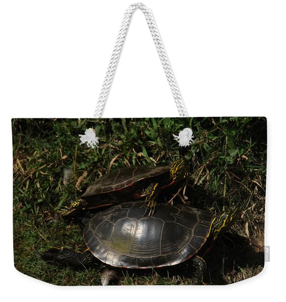 Wrestle Mania Painted Turtle Stlye Weekender Tote Bag