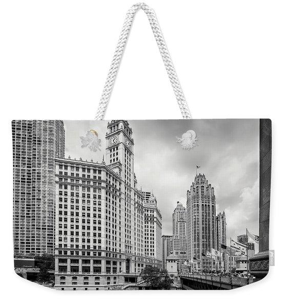 Wrigley Building Chicago Weekender Tote Bag