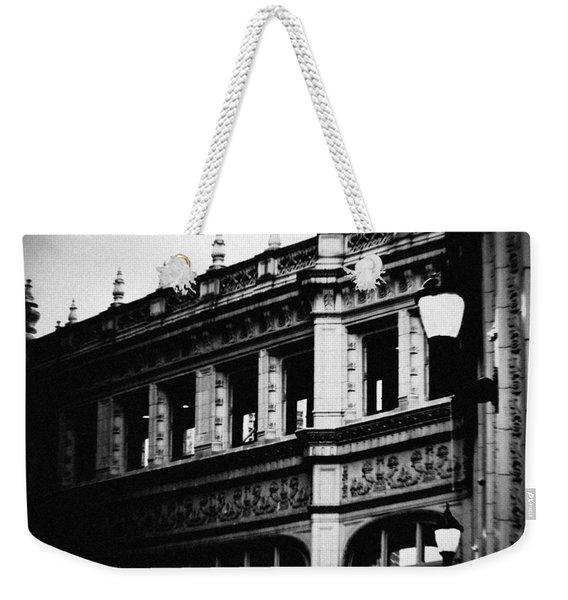 Wrigley Building Square Weekender Tote Bag