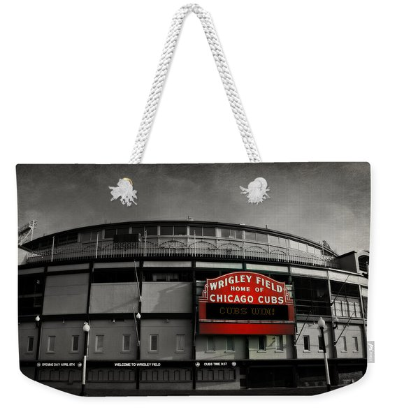 Wrigley Field Home Of The Chicago Cubs Weekender Tote Bag