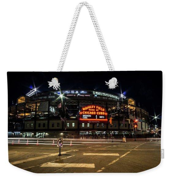 Wrigley Field Marquee At Night Weekender Tote Bag