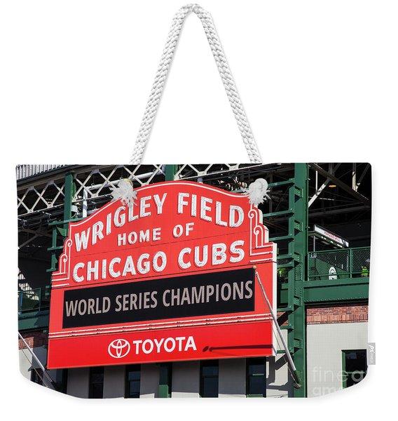Wrigley Field Marquee Weekender Tote Bag