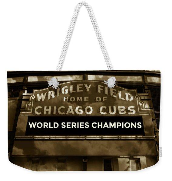 Wrigley Field Sign - Vintage Weekender Tote Bag