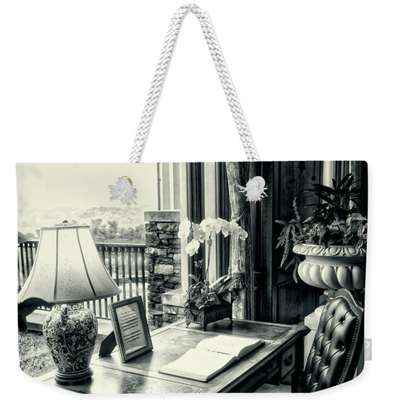 Writing Desk Bw Series 0808 Weekender Tote Bag