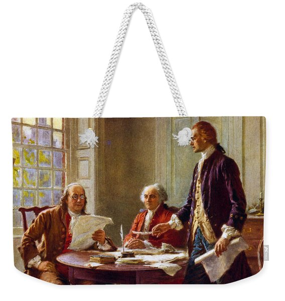 Writing The Declaration Of Independence, 1776, Weekender Tote Bag