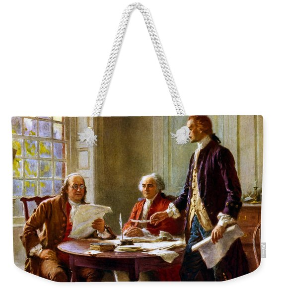 Writing The Declaration Of Independence Weekender Tote Bag