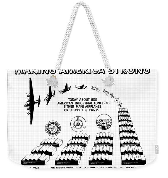 Ww2 Airplane Supply Cartoon  Weekender Tote Bag
