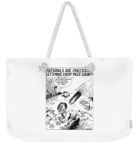 Ww2 Material Conservation Cartoon Weekender Tote Bag