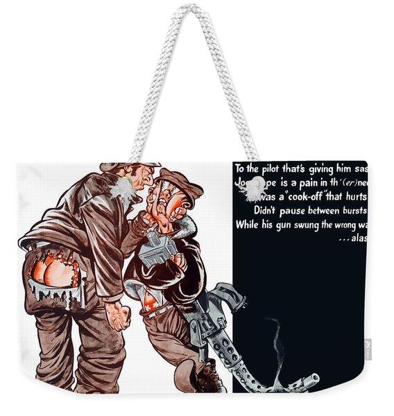 Wwii Joe Dope Cartoon Weekender Tote Bag