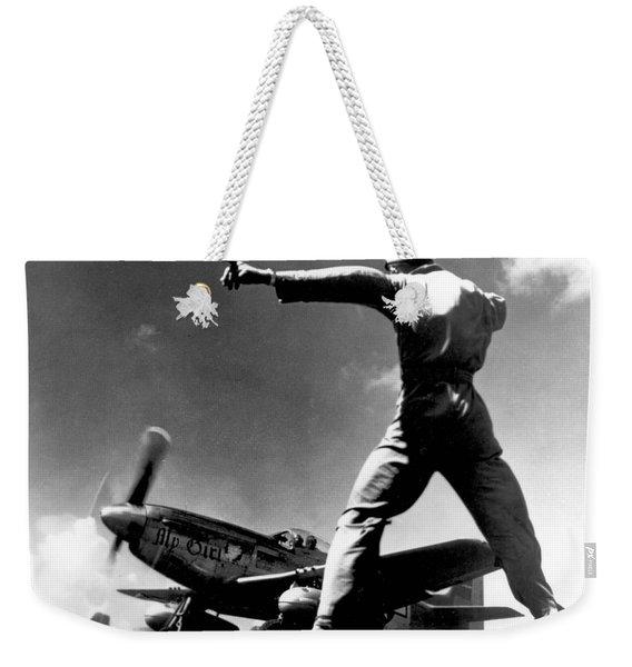 Wwii, North American P-51 Mustang, 1940s Weekender Tote Bag