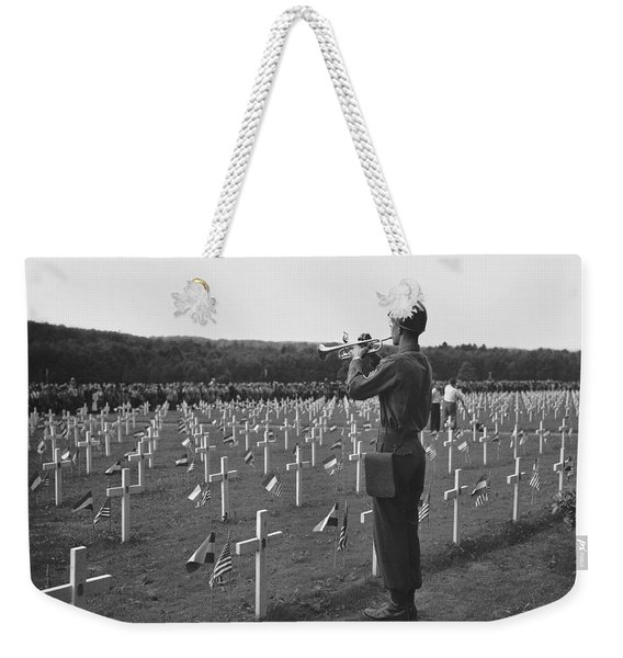 Wwii Taps Memorial Service Weekender Tote Bag