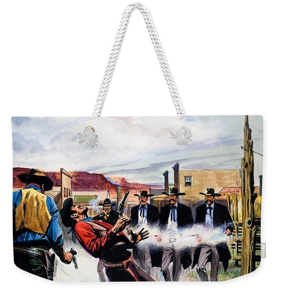Wyatt Earp And The Battle Of The Ok Corral Weekender Tote Bag