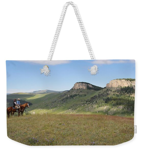 Wyoming Bluffs Weekender Tote Bag