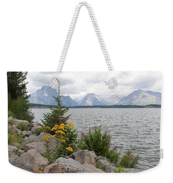 Wyoming Mountains Weekender Tote Bag