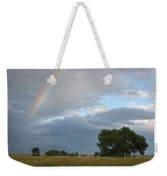 Wyoming Rainbow Weekender Tote Bag
