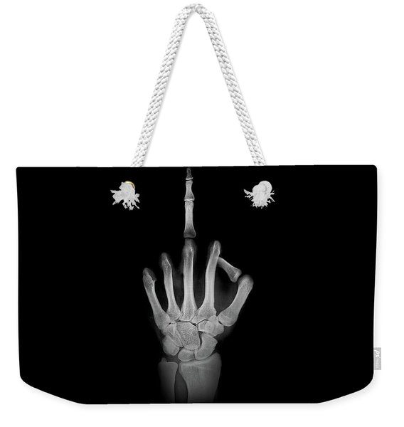 X-ray - Giving The Finger Weekender Tote Bag
