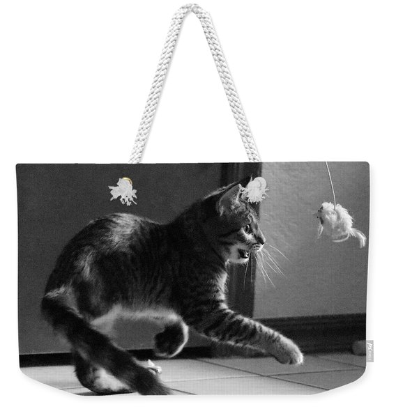 Xena Playing Weekender Tote Bag