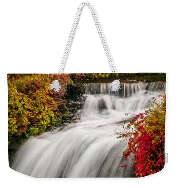 Fall At Minnehaha Falls Weekender Tote Bag